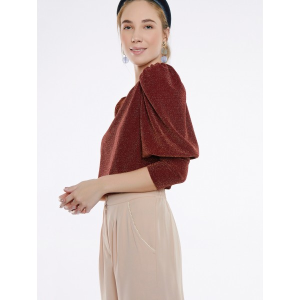 JERSEY CROPPED VOLANTE (LOAF)